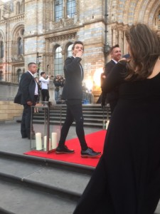 Louis Tomlinson on the red carpet