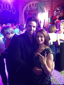 Smiley Booth attendant Mandy with Ben Haenow